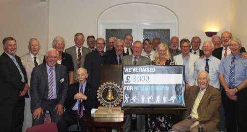 prostate cancer cheque presentation